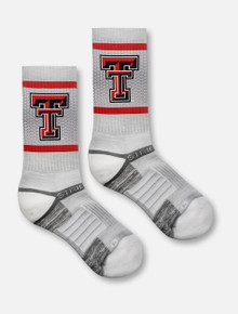 Strideline Texas Tech Red Raiders Double T on Faded Grid Pattern Crew Socks