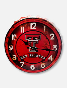 Texas Tech Red Raiders Bottle Cap Clock