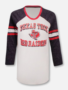 Texas Tech Red Raiders Pride Logo 3/4  Raglan Long Sleeve T-Shirt