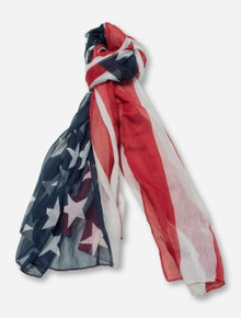 American Flag Red, White & Blue Scarf - Texas Tech