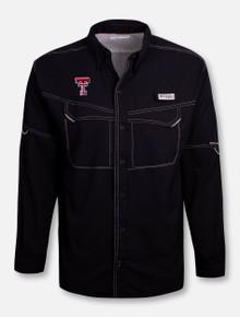 Columbia Texas Tech Red Raiders Double T Low Drag Long Sleeve Dress Shirt