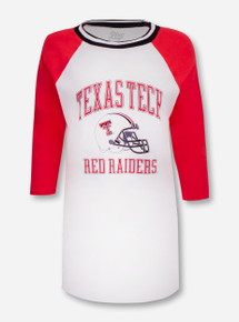"Blue 84 Texas Tech Red Raiders ""Avery"" Raglan Varisty Tunic"