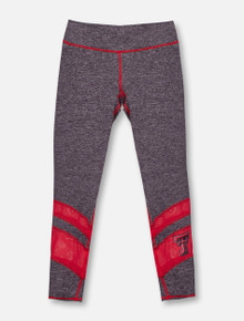 ZooZat Texas Tech Red Raiders Double T Grey and Mesh YOUTH Leggings