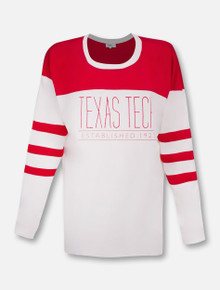 Texas Tech Red Raiders Est. 1923 Blouse with Striped Long Sleeve