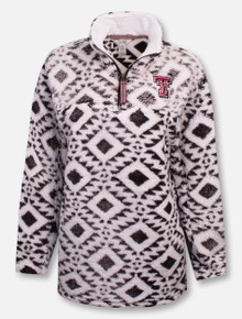 "Pressbox Texas Tech Red Raiders Double T ""Northfolk"" 1/4 Zip Tribal Pullover"