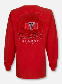 Summit Texas Tech Red Raiders Stadium Print Long Sleeve T-Shirt