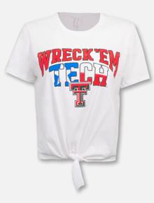 "Texas Tech Red Raiders ""Wreck 'Em Tech"" Arch Tie Front Shirt"
