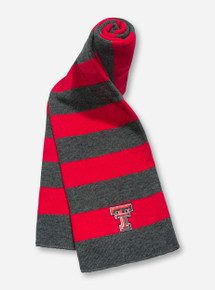 Texas Tech Double T Red & Charcoal Scarf