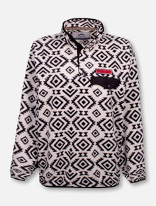 Summit Texas Tech Red Raiders Double T Aztec Patterned 1/4 Snap Fleece Pullover