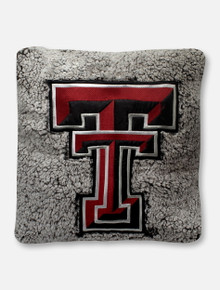 Summit Texas Tech Red Raiders Double T Sherpa Pillow