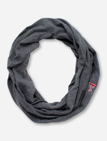 LogoFit Texas Tech Double T Charcoal Infinity Scarf