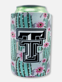 "Texas Tech Black and White Double T ""Cacti"" Can Cooler"