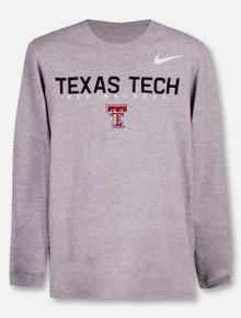 Nike Texas Tech Red Raiders Double T YOUTH Long Sleeve T-Shirt
