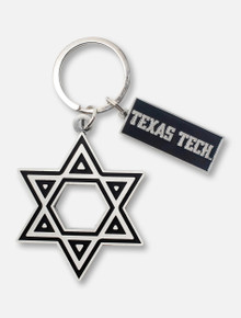 Spirit Products Texas Tech Red Raiders Metal Star of David Keychain