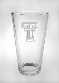 Texas Tech Red Raiders Etched Double T Pint Glass