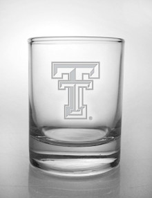 Texas Tech Red Raiders Etched Double T Votive