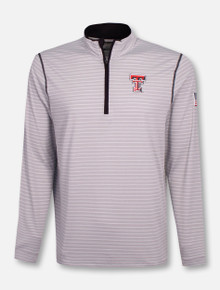"Cutter & Buck Tech Red Raiders Double T ""Meridian"" 1/2 Zip Pullover"