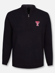RRO Signature Collection Texas Tech Double T Cashmere 1/2 Zip Pullover