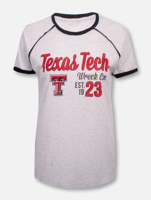 "Blue 84 Texas Tech Red Raiders ""Poppy"" Raglan Piping Tee"