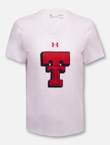 """Under Armour Texas Tech Red Raiders Women's Throwback """"Branded"""" Charged Cotton Short Sleeve T-Shirt"""