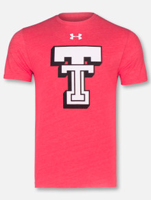 """Under Armour Texas Tech Red Raiders Throwback """"Branded""""  Triblend Short Sleeve T-Shirt"""