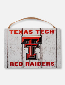 Texas Tech Red Raiders Weathered Plaque with Full Color Double T