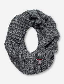 The Game Texas Tech Cable Knit Grey Infinity Scarf