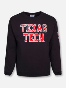 "Champion® Texas Tech Red Raiders ""Rugged Football Font"" Crew Sweatshirt"