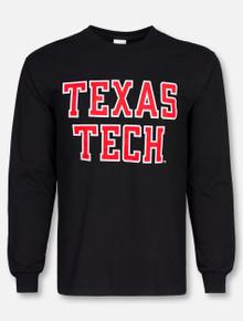 "Texas Tech Red Raiders ""Rugged Football Font"" Long Sleeve Shirt"
