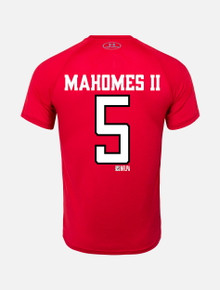 737c0610511d Under Armour Texas Tech Red Raiders Mahomes Football Stack Short Sleeve T- Shirt