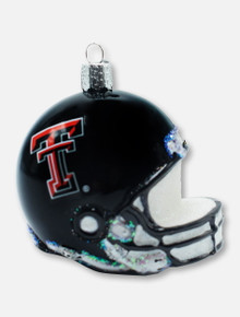 Texas Tech Red Raiders Glass Blown Helmet Ornament