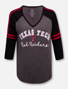 Texas Tech Red Raiders Curling 3/4 Sleeve T-Shirt