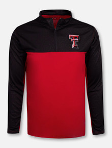 "Texas Tech Red Raiders Double T ""Luge"" Quarter Zip Wind Pullover"