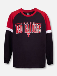 "Texas Tech Red Raiders Double T ""Ollie"" YOUTH Long Sleeve Raglan T-Shirt"