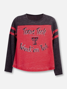 "Texas Tech Red Raiders Double T ""Arabesque"" YOUTH Long Sleeve T-Shirt"
