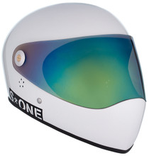 White Gloss W/ Iridium Visor   S1 Lifer Full Face Helmet Specs: • Specially formulated EPS Fusion Foam • Certified Multi-Impact (ASTM) • Certified High Impact (CPSC) • 5x More Protective Than Regular Skate Helmets • Deep Fit Design