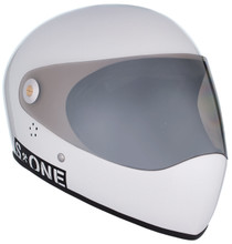 White Gloss W/ Mirror Visor   S1 Lifer Full Face Helmet Specs: • Specially formulated EPS Fusion Foam • Certified Multi-Impact (ASTM) • Certified High Impact (CPSC) • 5x More Protective Than Regular Skate Helmets • Deep Fit Design