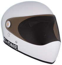 White Gloss W/ Tint Visor   S1 Lifer Full Face Helmet Specs: • Specially formulated EPS Fusion Foam • Certified Multi-Impact (ASTM) • Certified High Impact (CPSC) • 5x More Protective Than Regular Skate Helmets • Deep Fit Design