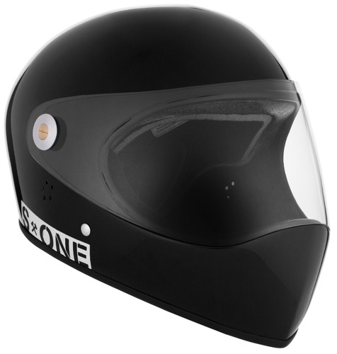 Black Gloss W/ Clear Visor   S1 Lifer Full Face Helmet Specs: • Specially formulated EPS Fusion Foam • Certified Multi-Impact (ASTM) • Certified High Impact (CPSC) • 5x More Protective Than Regular Skate Helmets • Deep Fit Design