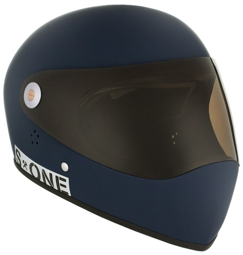 Navy Matte W/ Tint Visor   S1 Lifer Full Face Helmet Specs: • Specially formulated EPS Fusion Foam • Certified Multi-Impact (ASTM) • Certified High Impact (CPSC) • 5x More Protective Than Regular Skate Helmets • Deep Fit Design