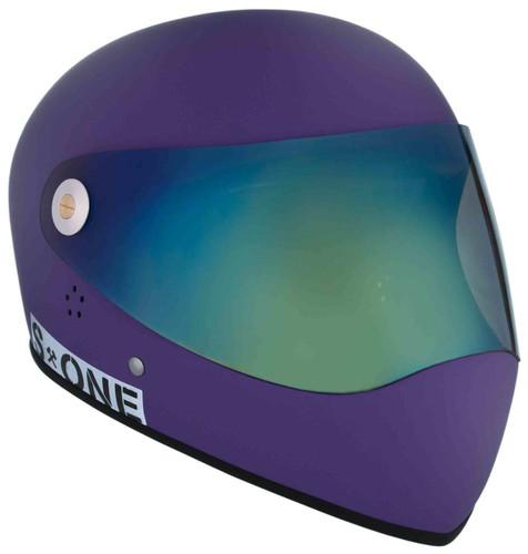 Purple Matte W/ Iridium Visor   S1 Lifer Full Face Helmet Specs: • Specially formulated EPS Fusion Foam • Certified Multi-Impact (ASTM) • Certified High Impact (CPSC) • 5x More Protective Than Regular Skate Helmets • Deep Fit Design