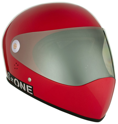 Red Gloss W/ Mirror Visor   S1 Lifer Full Face Helmet Specs: • Specially formulated EPS Fusion Foam • Certified Multi-Impact (ASTM) • Certified High Impact (CPSC) • 5x More Protective Than Regular Skate Helmets • Deep Fit Design