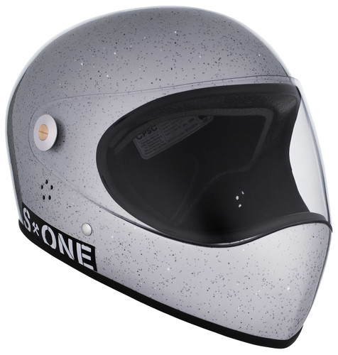 Silver Gloss Glitter W/ Clear Visor   S1 Lifer Full Face Helmet Specs: • Specially formulated EPS Fusion Foam • Certified Multi-Impact (ASTM) • Certified High Impact (CPSC) • 5x More Protective Than Regular Skate Helmets • Deep Fit Design