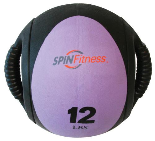 SPIN Fitness® Dual Grip Medicine Ball 12lb