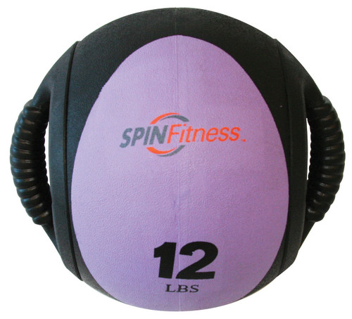 SPIN Fitness® Dual Grip Medicine Ball 12lb