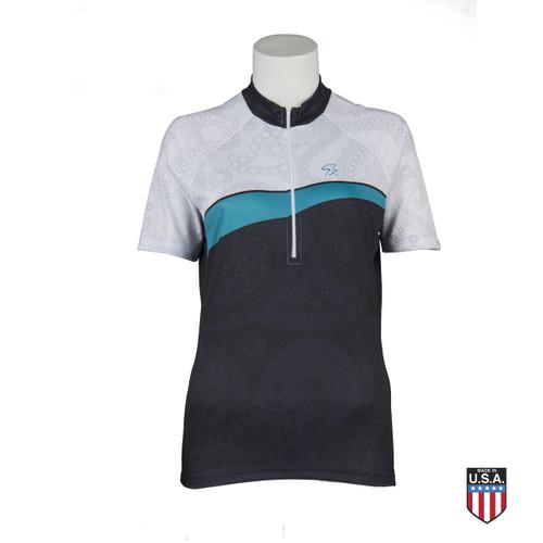 Short-Sleeve Paisley Jersey