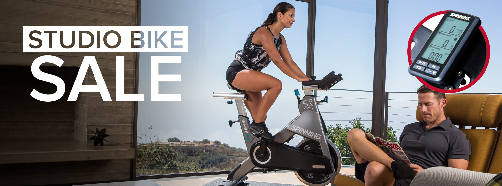 FREE SPINNING® COMPUTER WITH SELECT STUDIO BIKES