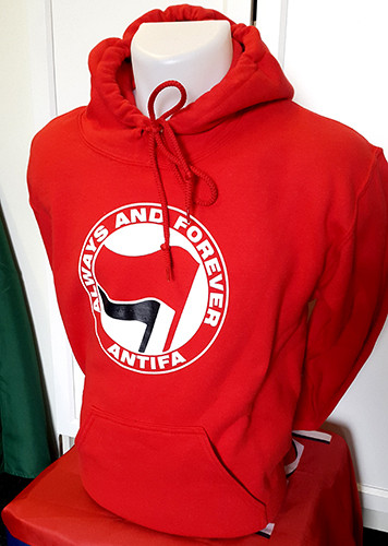 ANTIFA - Always and Forever - Anti-Fascist Hoody (red)