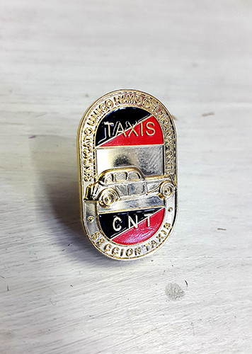 CNT badge this time from the confederation's taxi section, a nice badge reproduced from an original item.