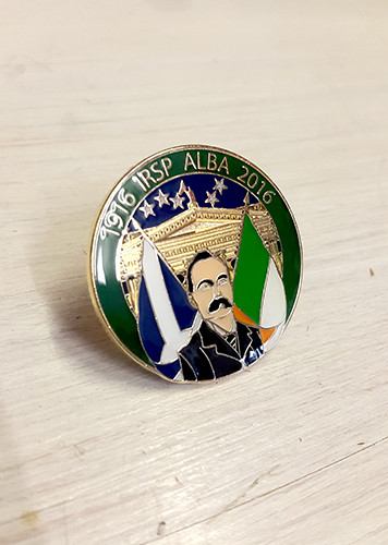 James Connolly Easter Rising Centenary IRSP ALBA Badge